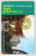 SYF46001 Syria Internet Access Card / Phonecard / Apamee Cham Palace / 20 Minutes / Used - Advertising