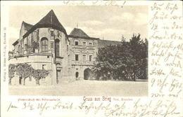 10013313 Brieg Brzeg Schlesien Brieg Schloss Kirche Gestempelt 1900 - Pologne