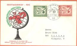 GERMANIA - GERMANY - Deutschland - ALLEMAGNE - 1965 - Europa Cept - Bonn - FDC - Europa-CEPT