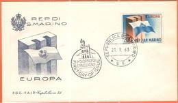 SAN MARINO - 1963 - Europa CEPT - FDC - Capitolium - Europa-CEPT