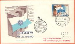 SAN MARINO - 1963 - Europa CEPT - FDC - Rodia - Europa-CEPT