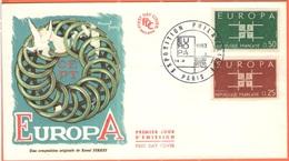 FRANCIA - France - 1963 - Europa Cept - FDC - Europa-CEPT