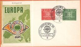 GERMANIA - GERMANY - Deutschland - ALLEMAGNE - 1963 - Europa Cept - München - FDC - Europa-CEPT