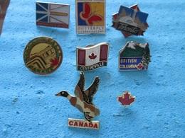 8 BADGES CANADA - Lots