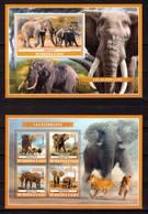 Burkina Faso, 2019. [bf1910] Elephants (s\s+block) - Elephants