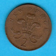 GREAT BRITAIN  2 NEW PENCE 1971 (KM # 916) #5245 - 2 Pence & 2 New Pence