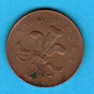 GREAT BRITAIN  2 PENCE 1992 (KM # 936) #5247 - 2 Pence & 2 New Pence