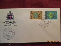 FDC De 1965 D'Islande ( EUROPA) - FDC