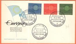 GERMANIA - GERMANY - Deutschland - ALLEMAGNE - 1960 - Europa Cept - Bonn - FDC - Europa-CEPT