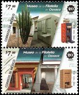 2018 MÉXICO 20 Años Del Museo De Filatelia De Oaxaca SE TENANT MNH 20 Years Of The Philately Museum Of Oaxaca, CACTUS - Mexico