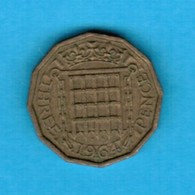 GREAT BRITAIN  3 PENCE 1964 (KM # 900) #5252 - 1902-1971 : Post-Victorian Coins