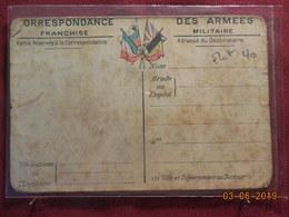Carte De Correspondance Avec Carte Au Dos - Cartes De Franchise Militaire