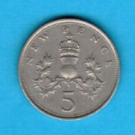 GREAT BRITAIN  5 NEW PENCE 1970 (KM # 911) #5253 - 1971-… : Decimal Coins