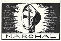 1926 Marchal (Phare Projecteur Pour Automobile) - Publicité - Pub - Coffres-forts Bauche - Publicités