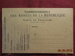 Carte De Correspondance Non Circulée Avec Illustration Au Dos - Cartes De Franchise Militaire