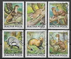 UNGHERIA 1979 ANIMALI PROTETTI YVERT. 2690-2695 USATA VF - Ungheria