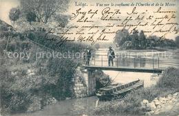 43501589 Liege_Luettich Vue Sur Le Confluent De L'Ourthe Et De La Meuse Liege Lu - Other