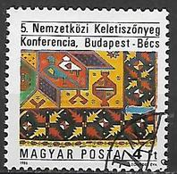 UNGHERIA 1986 TAPPETI ORIENTALI YVERT. 3052 USATO VF - Ungheria