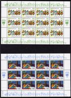 UNITED NATIONS - 1987 USA UN DAY SHEETLETS (2) FINE MNH ** SG 524-525 X 12 - Unused Stamps