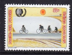 UNITED NATIONS - 1995 INTERNATIONAL YOUTH YEAR 55c CYCLING STAMP FINE MNH ** SG 672 - New York – UN Headquarters