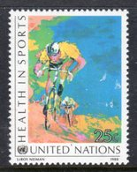 UNITED NATIONS - 1988 HEALTH IN SPORTS 25c CYCLING STAMP FINE MNH ** SG 535 - Unused Stamps