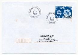 """POLYNESIE FRANCAISE - Enveloppe Affr. Pareo Oblitérée """"TUPAPATI-HIKUERU  TUAMOTU"""" 11-7-2010 - Lettres & Documents"""