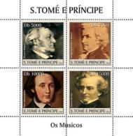 Sao Tome 2004  Musicians Wagner, Mozart, Mendelsohn - Sao Tome And Principe