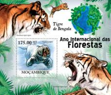 Mozambique 2011 Fauna Bengal Tigers - Sao Tome And Principe