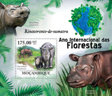 Mozambique 2011 Fauna Sumatran Rhinoceros - Sao Tome And Principe