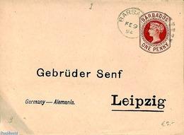 Barbados 1894 Wrapper 1d To Leipzig, (Used Postal Stationary) - Barbados (1966-...)