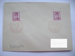 Cvr Commemorative Postmark 9.V.1946 Hodonin Anniversary Of The May Revolution Liberation Of The Republic, Stamp Stefanik - Tschechoslowakei/CSSR