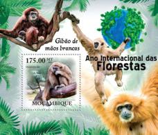 Mozambique 2011 Fauna Monkey Gibbon - Sao Tome And Principe