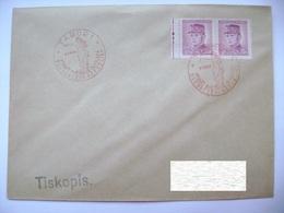 Cvr Commemorative Postmark 9.V.1946 Tabor Anniversary Of The May Revolution Liberation Of The Republic, Stefanik 2x 30 H - Tschechoslowakei/CSSR
