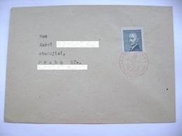 Cvr Commemorative Postmark 9.V.1947 Praha May's National Revolution (second Anniversary), Stamp Pres. Benes 60 H - Tschechoslowakei/CSSR