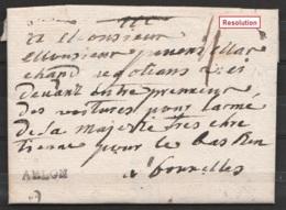 """L. Datée 16 Décembre 1769 De Arlon Pour Marchand De … Pour L'Armée De Sa Majesté … à BRUXELLES - Griffe """"ARLON"""" - 1714-1794 (Austrian Netherlands)"""