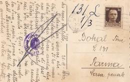 1943 ITALY SLOVENIA LUBIANA CENSORED POSTCARD SENT TO PARMA CASA PENALE, PRISON , IVAN CANKAR , VRHNIKA - Slowenien