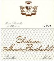 Etiquette Vin Mouton Rothschild, 1925, 75 Cl - Red Wines
