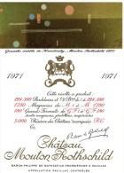 Etiquette Vin Mouton Rothschild, 1971, Gouache Inédite De Handinsky, 150  Cl - Red Wines