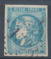 N°45 NUANCE ET OBLITERATION. - 1870 Bordeaux Printing
