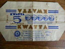 CHOCOLAT:TRES RARE EMBALLAGE DES ANNEES 60 DU CHOCOLAT KWATTA 5 LAIT AVEC POINTS - Autres Collections