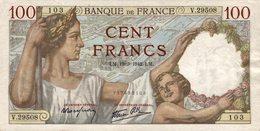 7644-2019    BILLET  DE BANQUE 19-3-1942 - 100 F 1939-1942 ''Sully''