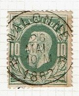 30  Obl  Relais Malonne  Court !  80 - 1869-1883 Leopold II
