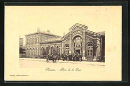 CPA Somain, Place De La Gare, Vue De La Gare - Zonder Classificatie