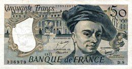 7646-2019    BILLET  DE BANQUE 1977 - 50 F 1976-1992 ''Quentin De La Tour''