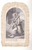 IMAGE RELIGIEUSE  CANIVET  DENTELLE APRES LE TRAVAIL JESUS UN LIEU DE REPOS     EDITEUR  DANIEL PARIS - Imágenes Religiosas