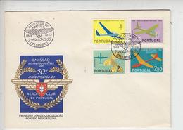 PORTOGALLO 1960 - Unificato 864/7 - Annullo Speciale Illustrato  AereoClub - FDC