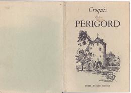 CPA Pochette 10 Croquis Du PERIGORD Roger CHAPELET Le Clos, Montaigne,Brantome,Castelnaud, St Crepin, Sarlat ... - Other Illustrators