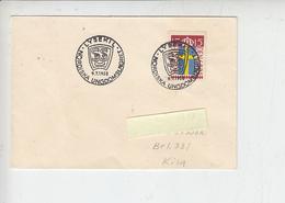 """SVEZIA  1958 -Unif. 378 -  Annullo Speciale Illustrato - """"Squadra Giovanile Nordica"""" - Svezia"""