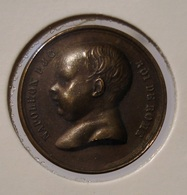 MEDAILLE NAPOLEON II ROI DE ROME 1811 VINGT MARS Par TIOLIER. BRONZE. RARE. - Francia