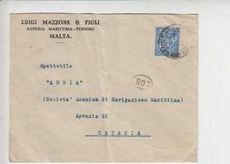 MALTA 1936 - Unificato 159 - Lettera Per Italia - Malta